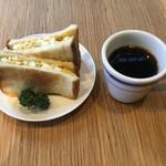 ビートカフェ - 軽めのランチセット。500円