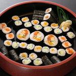 巻き寿司 三人盛り