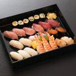 にぎり寿司 上 三人盛り