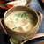 豊年萬福 - 青紫蘇と氷を浮かべた冷や汁(味噌ベース)。ごはんを投入する想定なので味が濃く、これ単体でも味わい深い