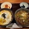 みず野 - 料理写真:蕎麦とヒレカツ丼日替わりランチ
