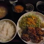とんがらし - 竜田揚げ定食
