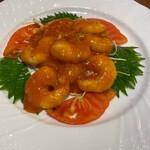 中国料理 千琇 - エビのチリソース 980円
