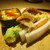 もと井 - 料理写真:八寸:のびるとバチコの酢味噌和え、蛍烏賊とつぼみ菜の天ぷら、鯛の子、カラスミ大根、イイダコ。     2020.03.27