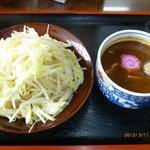 ラーメン金太郎 - 林神龍 金太郎 野菜盛つけめん 小 温かい方