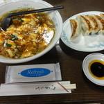 若 - 料理写真:マーボーメンと餃子