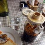 12915472 - 卓上のペペロンチーノのオイル