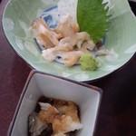12915567 - 「バイ貝のお造り」560円  コリコリ美味しい