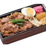 たくあん・牡丹亭 - 霜降り牛すき焼き重   (お茶付き)1,980円