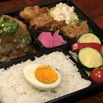 たくあん・牡丹亭 - おろしハンバーグ御膳(折箱)1250円