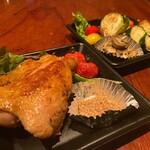 ●鶏もも肉のコンフィとロースト野菜