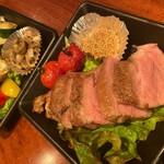 ●もち豚肩ロース肉のローストとロースト野菜