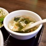 四川料理 胡一刀四代目 - 【本場四川麻婆豆腐 定食@900円】スープ
