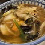 中国料理 龍王 - 上から五目麺