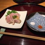 菜鶏 - 料理写真:オリーブ地鶏の炙り