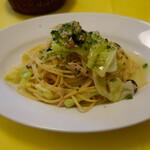 129172139 - 春キャベツ、ツナのオイルスパゲッティ