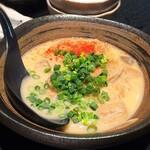 熊本ホルモン - 馬ホルモンの味噌煮込み 白味噌ベースで、コク強め。