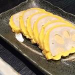 熊本ホルモン - 熊本名物「辛子レンコン」 やっぱ地物料理っていいですね。