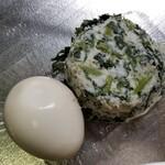 129175800 - 春菊ポテサラ+味玉