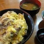 野沢屋 - 料理写真:他人丼 ¥550 / みそ汁 ¥100 / 小松菜のおひたし ¥100
