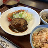 Saisaishokudou - 料理写真:自分流!? ハンバーグ定食d(゜.-^*)/