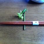 石臼挽き蕎麦香房 山の実 - 箸置き(黒文字の木)