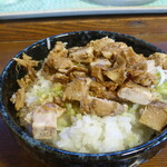麺屋匠神 - Cランチミニチャーシュー丼¥100
