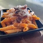 ●パンチェッタとたまねぎのトマトソース ペンネ