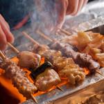 国産鶏の炭火焼き各種