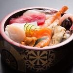 彦八 - 海鮮丼1000円テイクアウトできます
