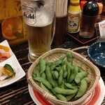 どんどん亭 - 枝豆美味い!!