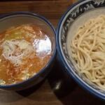 麺や樽座 - 海老味噌つけ麺(大盛無料)