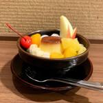 喫茶リッチ - プリンみつ豆(690円 +税)