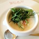 サン・ル・スー - 新玉葱のムース ズワイガニとキャベツのマリネ添え