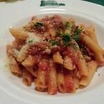 コロッセオ - Aランチのメイン(パンチェッタとトマトソースのペンネ)