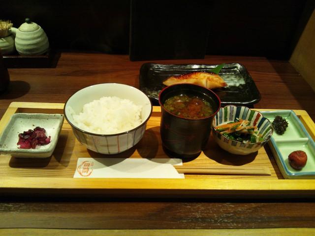 人形町 田酔 - ご飯セットと銀鱈西京焼き