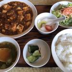 珍華 - 料理写真:マーボー豆腐セット