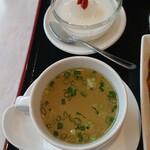 寶來軒 - スープと杏仁豆腐