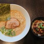 らーめん専門店 小川 - らーめん&ミニ炙り叉焼飯セット
