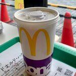 マクドナルド - ベーコンエッグマックサンドセット ¥400 のプレミアムローストアイスコーヒー(M)