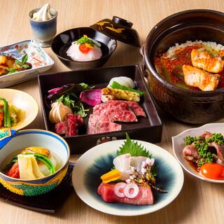 記念日や接待。大切な日を彩る旬食材、目にも美しいお料理の数々