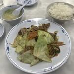 餃子の王将 - 回鍋肉定食(2020,2)