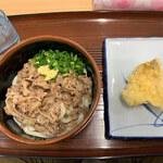 501UDON - 肉ぶっかけ(冷)&キス天