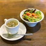 炭火焼とワインの酒場 VOLTA - おかわり自由のスープとサラダ