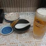 宝雲亭 - ビールと初めの状態