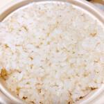 カレー食堂 コロポ  - 分つきご飯 胚芽を残して栄養UP!