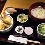 京おばんざい うどん つるはん - 姫天丼定食(湯だめうどん)