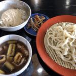 麦とろうどん 松尾 - 料理写真:肉汁(並)セット