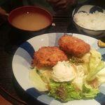 経堂らかん茶屋 - メンチカツ定食