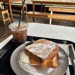 129301513 - ブリオッシュフレンチトースト、塩ホイップクリーム、Coffee(Iced)